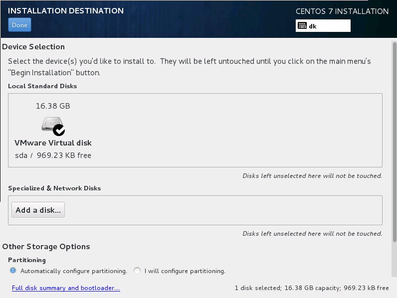 How to install a CentOS 7 64Bit server - /dev/random